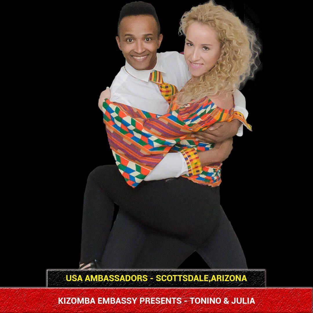 Kizomba Dancers Tonino & Julia USA